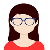 avatar di donna con occhiali
