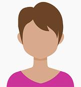 avatar di donna con capelli corti